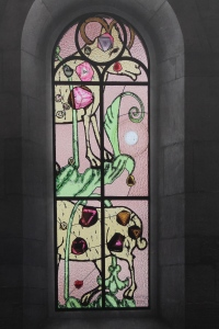 The Scapegoat - Sigmar Polke's stained glass window in Zurich's Gross Munster Church